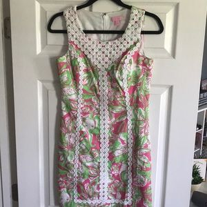 Lilly Pulitzer Pink and Green Shift Dress